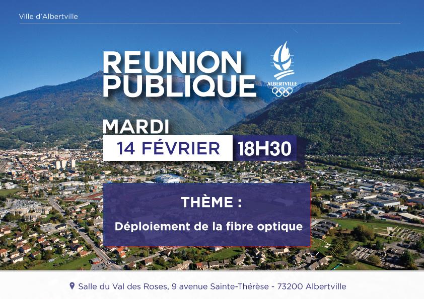 Réunion publique Fibre optique – Mardi 14 février à 18h30