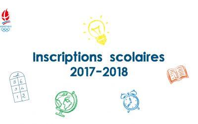 Inscriptions scolaires 2017-2018