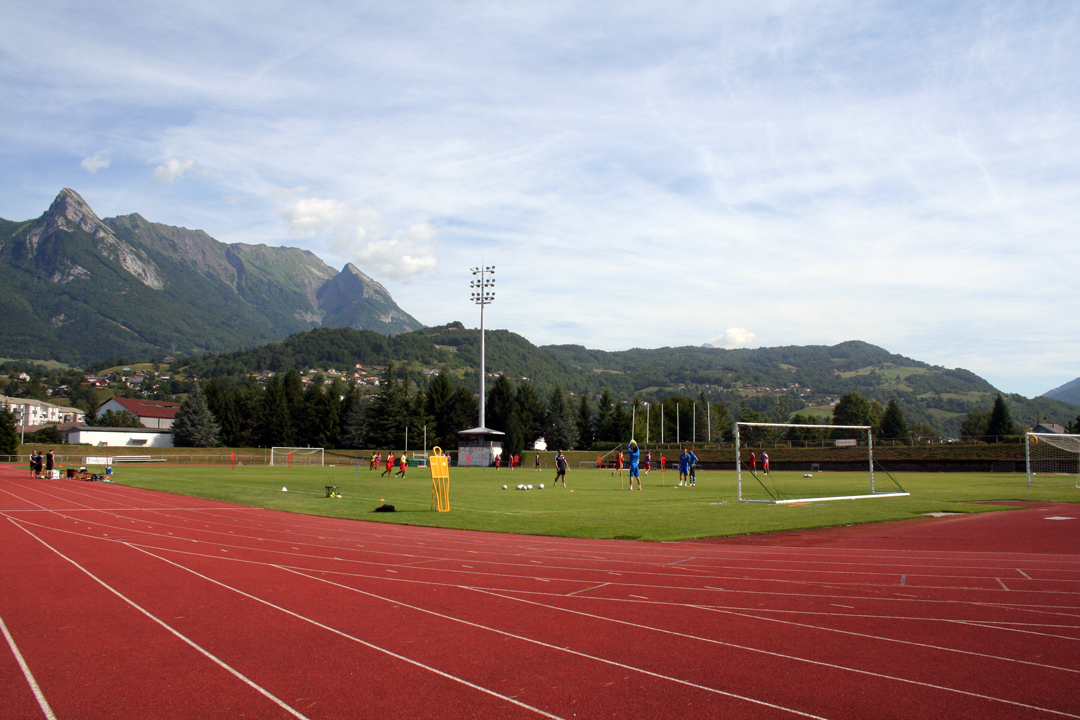 Nîmes Olympique en stage à Albertville