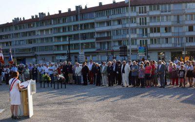 Cérémonie de commémoration du 73e anniversaire de la Libération d'Albertville