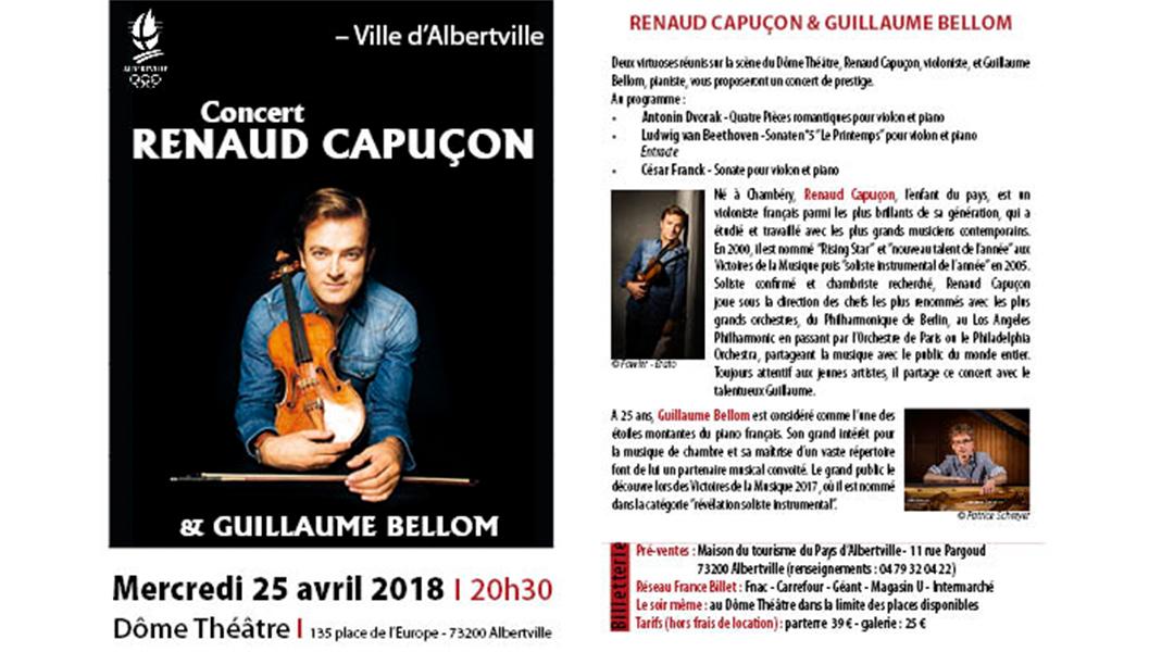 Concert Renaud Capuçon – la billetterie est ouverte !