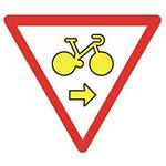Tourne à droite vélos Il permet aux cyclistes de tourner à droite ou de poursuivre un mouvement direct au feu rouge. Le bon réflexe : je redouble d'attention car je n'ai pas la priorité pour autant.