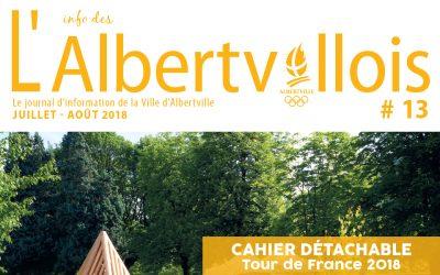 L'info des Albertvillois #13 Juillet-Août 2018 est en ligne !