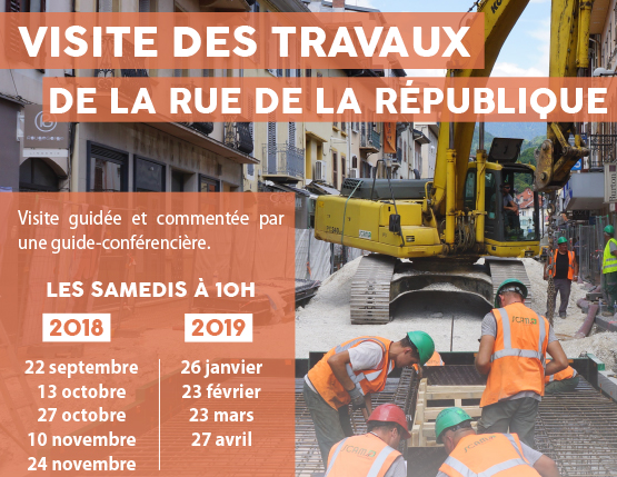 Visite guidée des travaux de la rue de la République