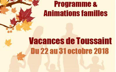 Programme vacances Toussaint au Centre socioculturel