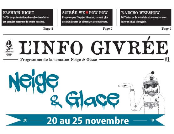 Neige & Glace – 20 au 25 novembre 2018
