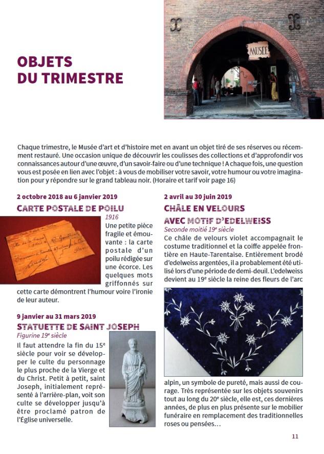 Retrouvez Les Dans Le Patrimoine Au Programme 2018 2019 Page 11