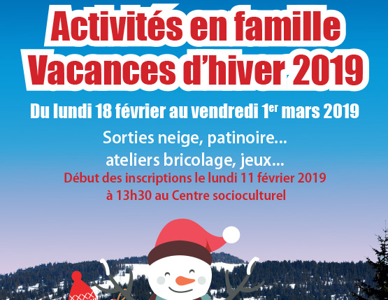 Programme vacances d'hiver famille
