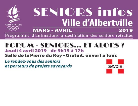 Seniors infos – Mars / Avril 2019