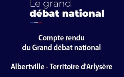 Compte rendu – Grand débat Albertville / Arlysère