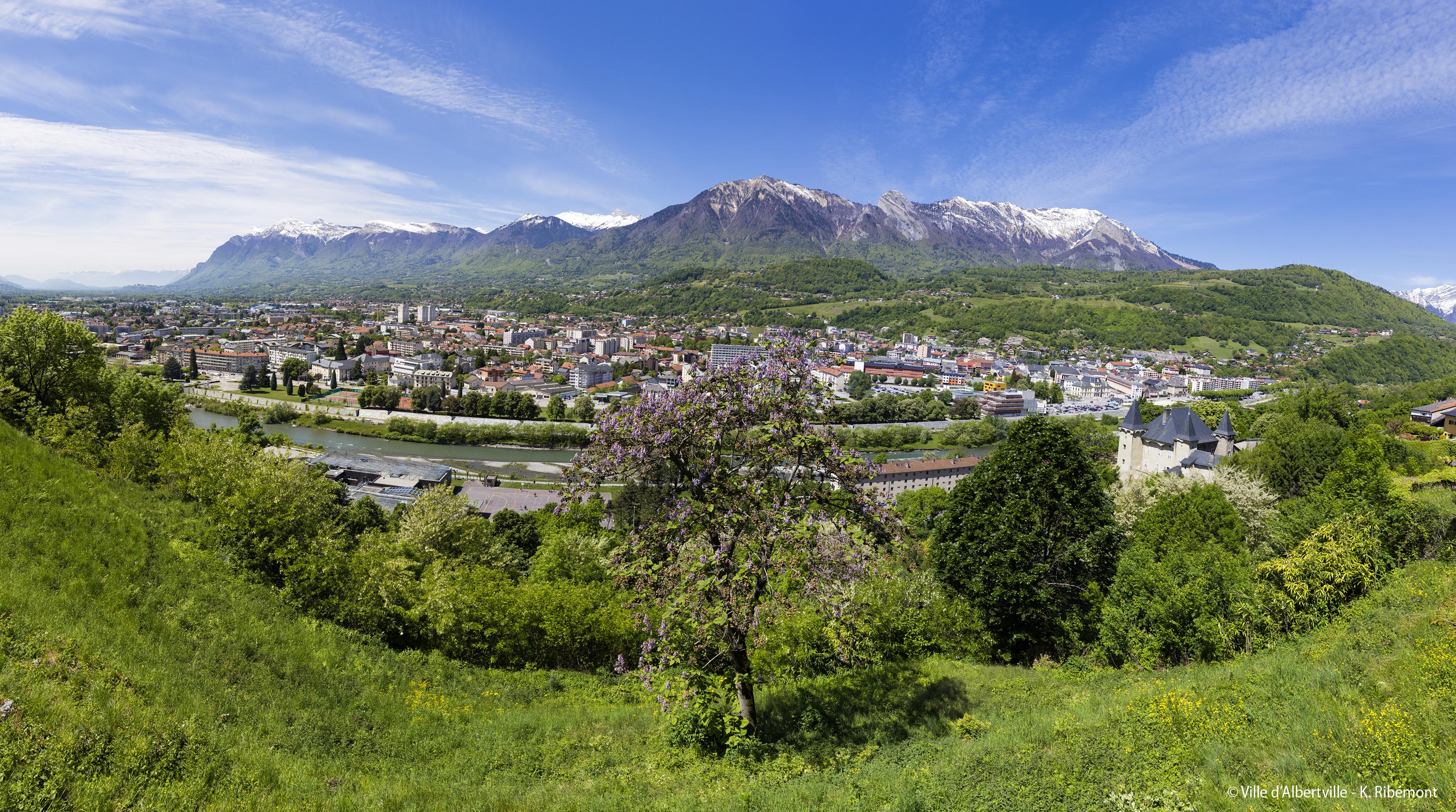Vue panoramique - avec crédit Ville d'Albertville