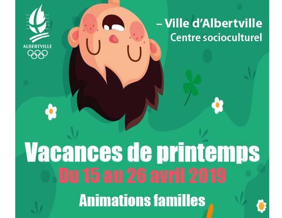 Programme famille vacances printemps 2019