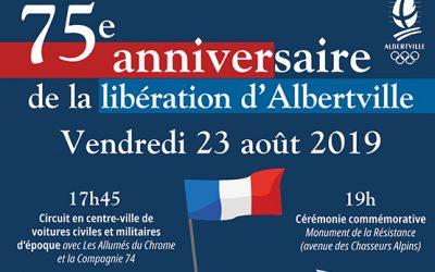 75e anniversaire de la libération d'Albertville