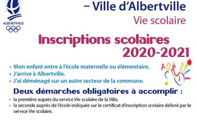 Inscriptions scolaires : à effectuer à partir du 11 mars 2020