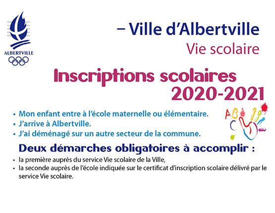 Inscriptions scolaires : à effectuer à partir de mai 2020