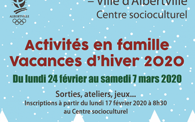 Vacances d'hiver : découvrez les activités familiales