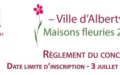 Concours Maisons et balcons fleuris 2020