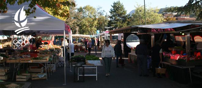 Les marchés d'Albertville pendant le confinement