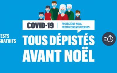 Campagne de dépistage Covid les 18, 19 et 20 décembre