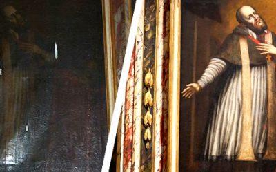 Restauration du tableau de St François de Sales à l'église de Conflans