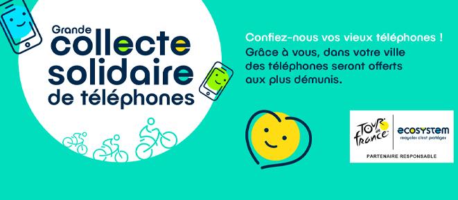 Collecte solidaire d'anciens téléphones à Albertville
