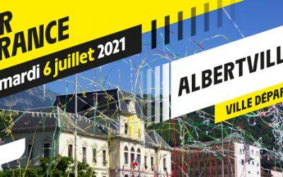 Départ d'étape du Tour de France à Albertville
